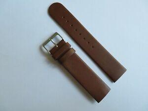 Uhrband Leder braun 20 mm Einschubband Befestigung Schrauben  SKAGEN BERING
