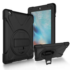 Shockproof Cover Skin with 360°Rotatable Grip Stand for iPad 2 3 4 Kid Friendly