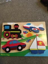 mellisa and doug Large Wooden Chunky Jigsaw Puzzle VGC