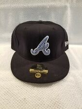 Atlanta Braves ~ Houndstooth A~ Baseball Cap Hat Fitted Size 7 1/2 Authentic MLB