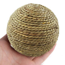 1pcs 6cm Pet Chew Play Toy Natural Grass Ball for Rabbit Hamster Guinea Pig