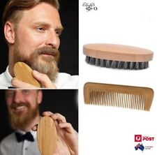 Men's Boar Bristle Beard Brush and Comb Beard Grooming Kit