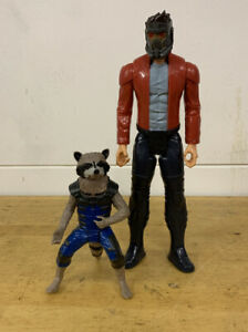 Marvel Guardians of the Galaxy Figures: Star Lord and Rocket