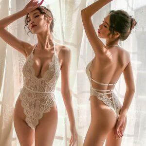 GentleBreez ~ Women's Sexy Lace Leotard Bodysuit Babydoll Teddy Lingerie