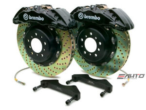 Brembo Front GT Brake BBK 6pot Black 380x34 Drill Chevy GMC 2500 00-06 H2 03-07