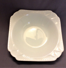 Vintage Shelley Dainty White Serving Bowl  Gold Trim 9.5 Inches