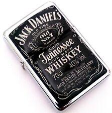 JACK DANIEL'S WHISKEY Black Smoking Cigarette Petrol Lighter Metal Merchandise