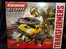 CARRERA GO ! 1/43 scale Transformers BUMBLEBEE CHASE slot car Set analog 62333