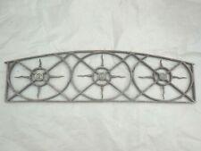 109 cm - Ancienne grille d'imposte de dessus de porte en fer forgé et bronze