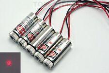 5pcs 650nm 5mW Focusable Dot Beam Red Laser Module w/ Driver Adjustable Lazer