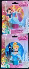Disney LED Night Light, CINDERELLA & 3 PRINCESSES Bedroom Bathroom Hallway Set/2