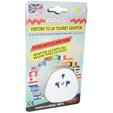 Omega 21109 Travel Universal Adaptor for UK Visitors USA EU China Australia New