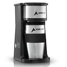 AdirChef Grab N' Go Personal Coffee Maker with 15 oz. Travel Mug Choose Color
