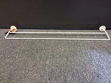 Double towel rail 60cm rack white powder coated steel zone hardware New