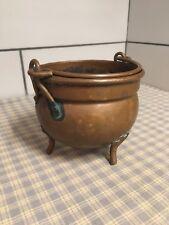 Vintage Unique Primitive Had hammered Copper Bowl On Three Legs. 4-1/2�T X 5�D