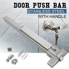 Door Push Bar Panic Exit Device With Handle Heavy Duty Hardware Latches US