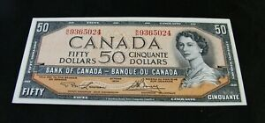 1954   Fifty  Dollar Bank Note  -  $50.00  -   Uncirculated !!!