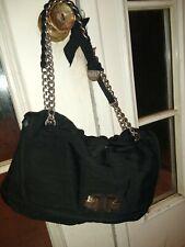 LANVIN black Satin Happy Bag