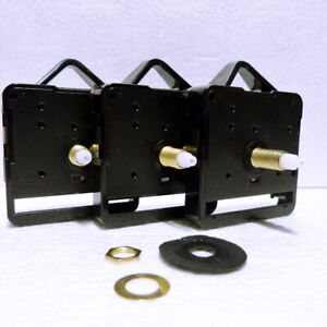 New Quartz clock movement with Black hands, ticking or sweep mechanism available