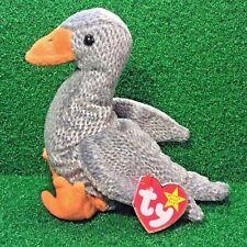 New 1999 Ty Beanie Baby Honks The Goose Rare Retired Plush Bird MWMT Ships FREE