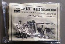 Bachmann Fujimi WW2 Battlefield diorama German 88mm anti-aircraft tank gun model