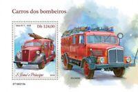 St Thomas - 2019 Fire Engines - Stamp Souvenir Sheet - ST190213b