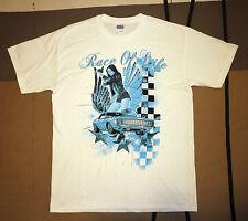 "T shirt ""Race of life"" talla L white"