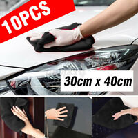 10 Pcs Car Cleaning Detailing Microfiber Soft Polish Cloths Towels 30cm x
