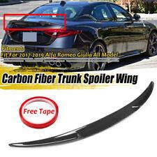 For Alfa Romeo Giulia REAL Carbon Fibre Rear Trunk Boot Wing Spoiler 2017-2019