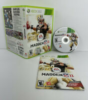 MICROSOFT XBOX 360  - COMPLETE WORKING GAME MADDEN 11 DREW BREES COVER