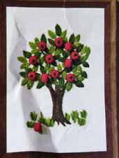 New ListingVintage 1970s Jiffy Stitchery Crewel Embroidery Kit Apple Tree w/ 3D Bead Apples