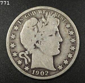 1902 Barber Half Dollar *Free S/H After 1st Item*