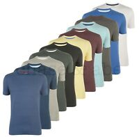 Chase and Abe Mens Crew Neck Plain Cotton T Shirts Pack of 5