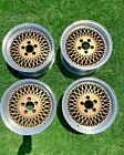 Rare Fox Mustang Saleen Mesh Wheels Staggered Two Piece Rims Set (4) with Caps