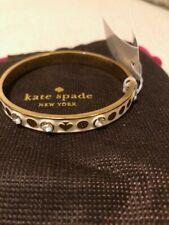 Kate Spade New York White Enamel/Clear Stones Bangle Brand New