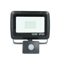 LED SMD Flutlicht Fluter Strahler mit Bewegungsmelder PIR 30W 2400 lm IP65