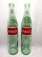 """Great Set of 3 Coca Cola Glass 1/"""" Logo Marble With Stands # 2"""