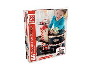 Hape Park & Go Wooden Garage & Cars E3002 - Wooden Toy - Pre-school Toy -  New