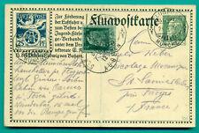 1912 BAYERN FLUGPOSTKARTE GANZSACHE STATIONARY BAEC MÜNCHEN - FRANKREICH AIR