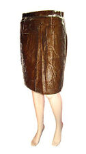 Dolce & Gabbana Women's Velvet Brown Knee Pencil Skirt sz UK10 IT42 Small AN36