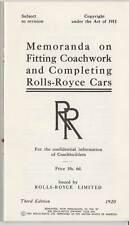 ROLLS-ROYCE: Coachbuilding Booklet