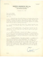 CHRISTY WALSH 1941 TLS letter about GEHRIG during casting PRIDE OF THE YANKEES