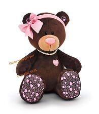 Peluche OURSON marron rose petit ours oursonne NEUVE en boite pas cher ChocoMilk