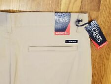 NWT Chaps Golf Men's Tan Cargo Golf Pants 34x34 Stretch $70 Retail Flat Front