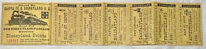 Vintage SOON AFTER Opening Day Disneyland RailRoad Tickets by Globe Ticket Co.