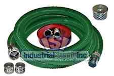 "2"" x 20 ft Heavy Duty Green SuperFlex Complete Hose Kit W/50' Red Discharge Hose"