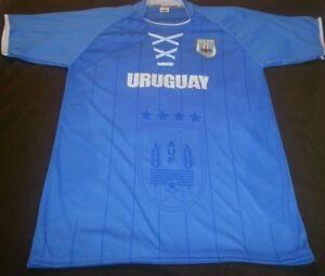 Uruguay Mens Soccer Jersey L Med Cup World Fútbol Copa America Mundial 1A