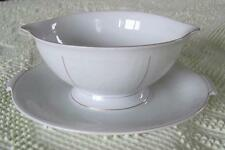 Rosenthal China White Velvet Faststand Sauce Boat Made in Germany