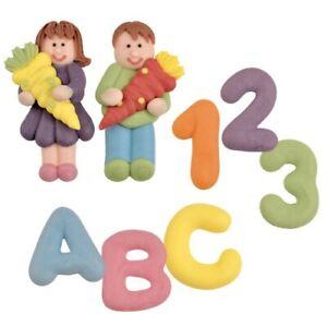 Zuckerfiguren Zuckerdekor Buchstaben Einschulung Kinder Schultüte Schulanfang
