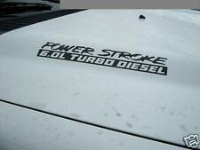 PowerStroke Power Stroke Turbo Diesel Hood Engine decals Pair Ford F250 F350 V8